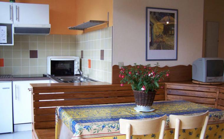Cusine équipée appartement Villa Bel Air Luz Saint Sauveur